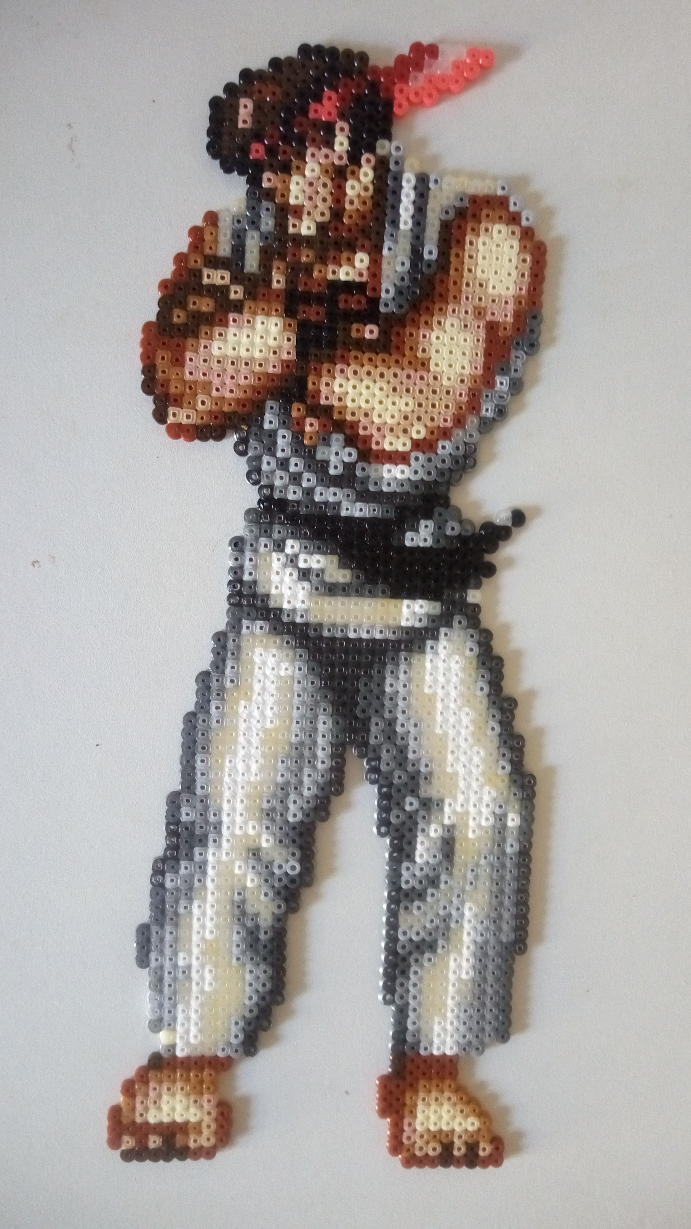 Ryu Street Fighter 2 Official Sprite Victory Perler Beads Pixel