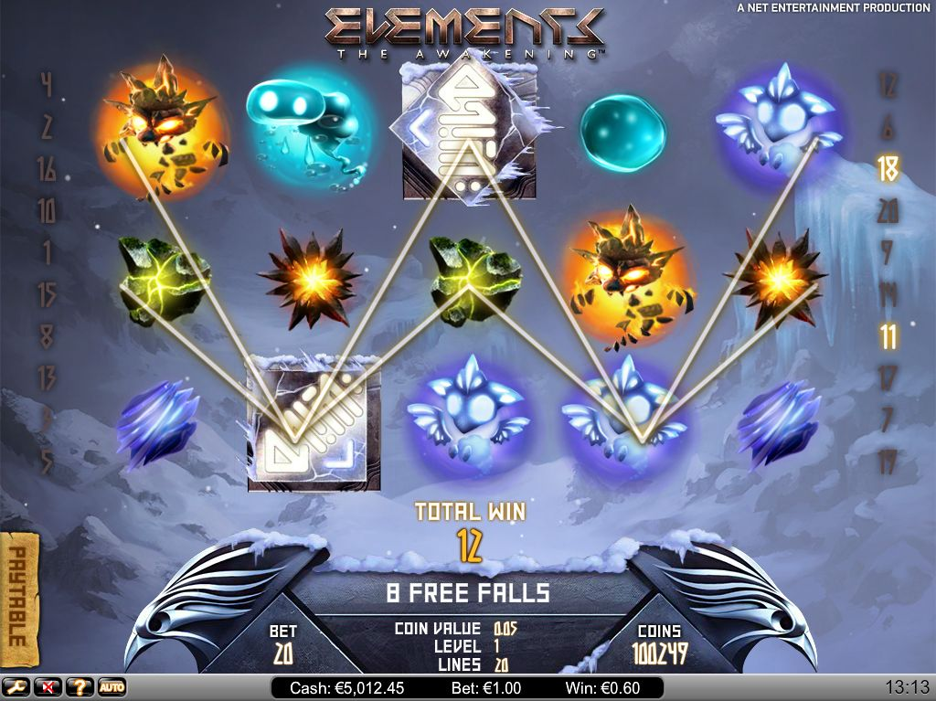 Elements The Awakening Slot Machine