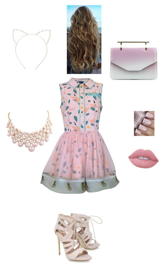 Pretty in pink by julierashy on Polyvore featuring polyvore, fashion, style, Supersweet, Carvela, M2Malletier, Cara, Lime Crime and clothing