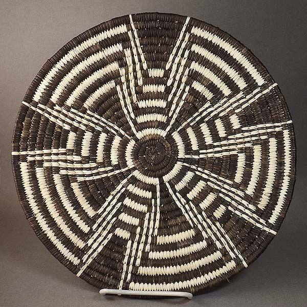 Basket Tohono Oodham Fully Coiled Five Petal Squash Blossom By