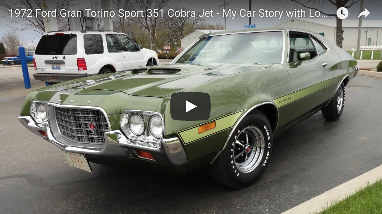 1972 Ford Gran Torino Sport 351 Cobra Jet Muscle Car Fan Ford