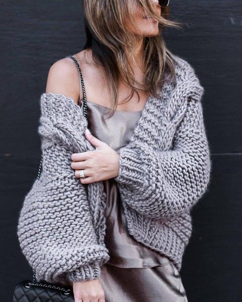 Find Out Where To Get The Cardigan | Super chunky knit, Wrap