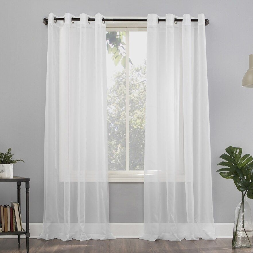 No 918 1 Panel Emily Sheer Voile Grommet Window Curtain White