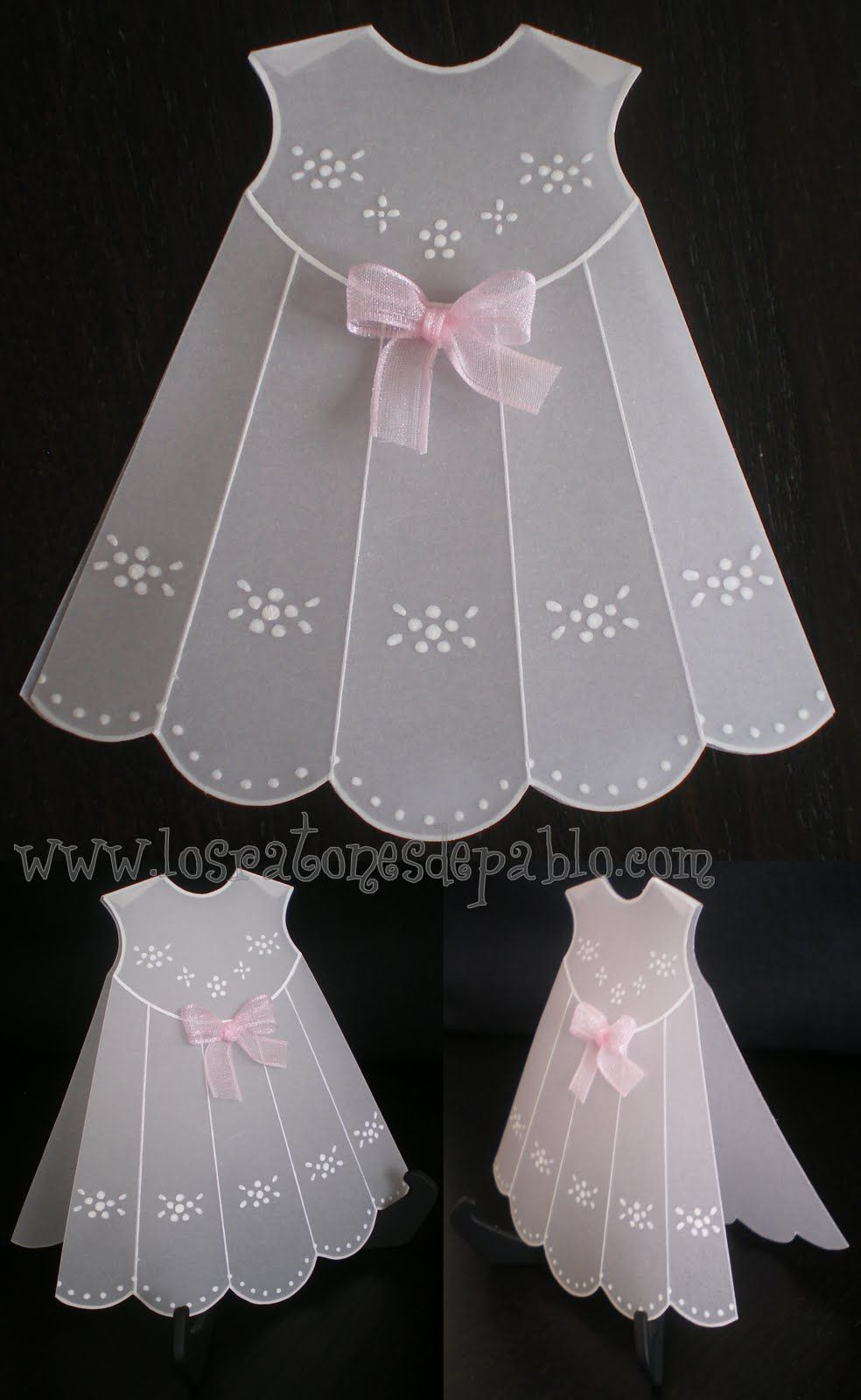 Use embossing templates and vellum to make a vintage baby dress ...