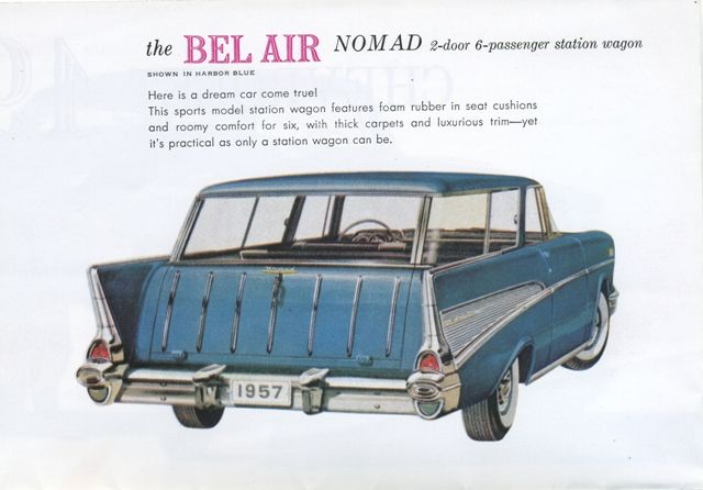1957 CHEVROLET NOMAD Information Specifications Resources Pictures - Click the image for details of the Nomad in 1957