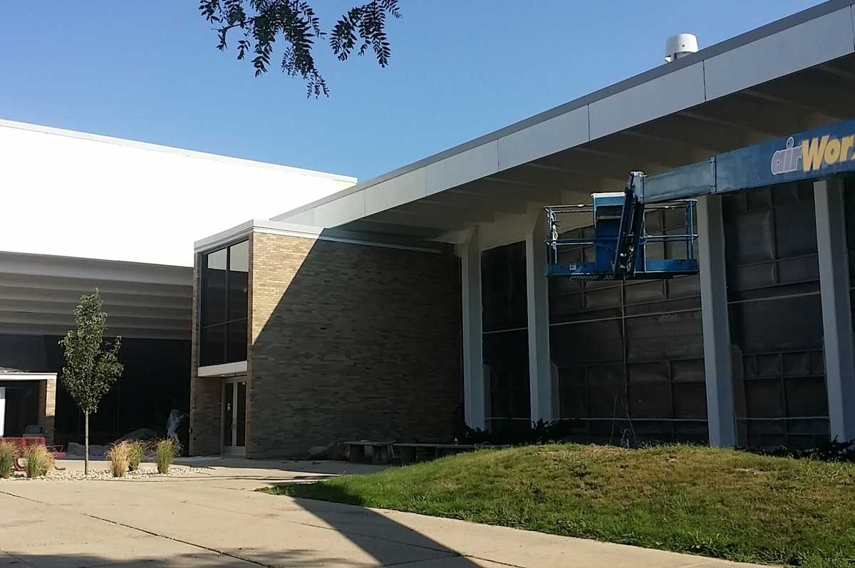 Jackson College Reached Out To Us To Refurb All Painted Surfaces On Two Of Their Larger Building On Campus Each Building Had Metal Facade Painting Contractors Construction Process