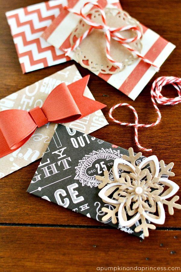 diy christmas gift card envelopes  christmas gift card