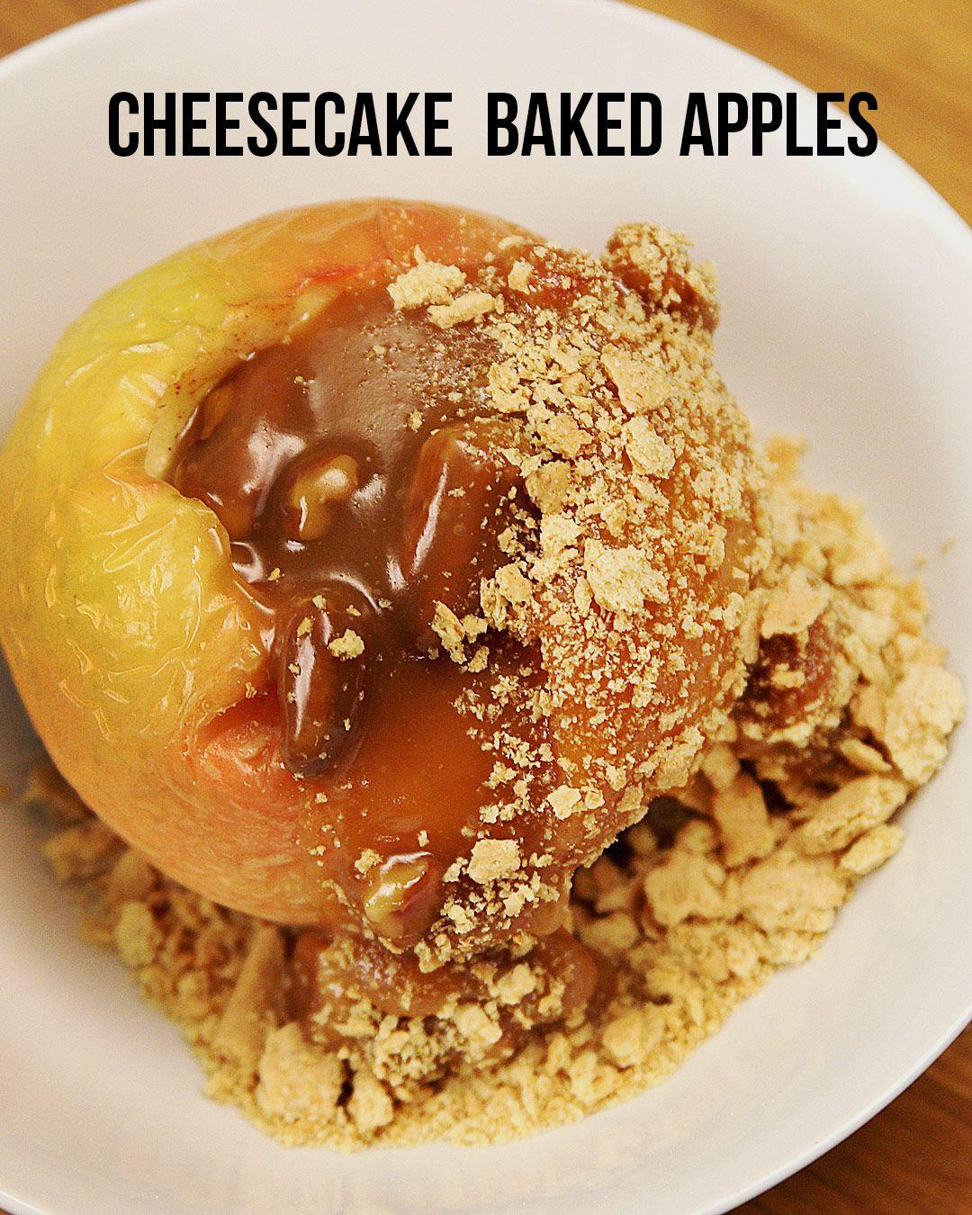 Cheesecake Baked Apples Apple recipes, Dessert recipes