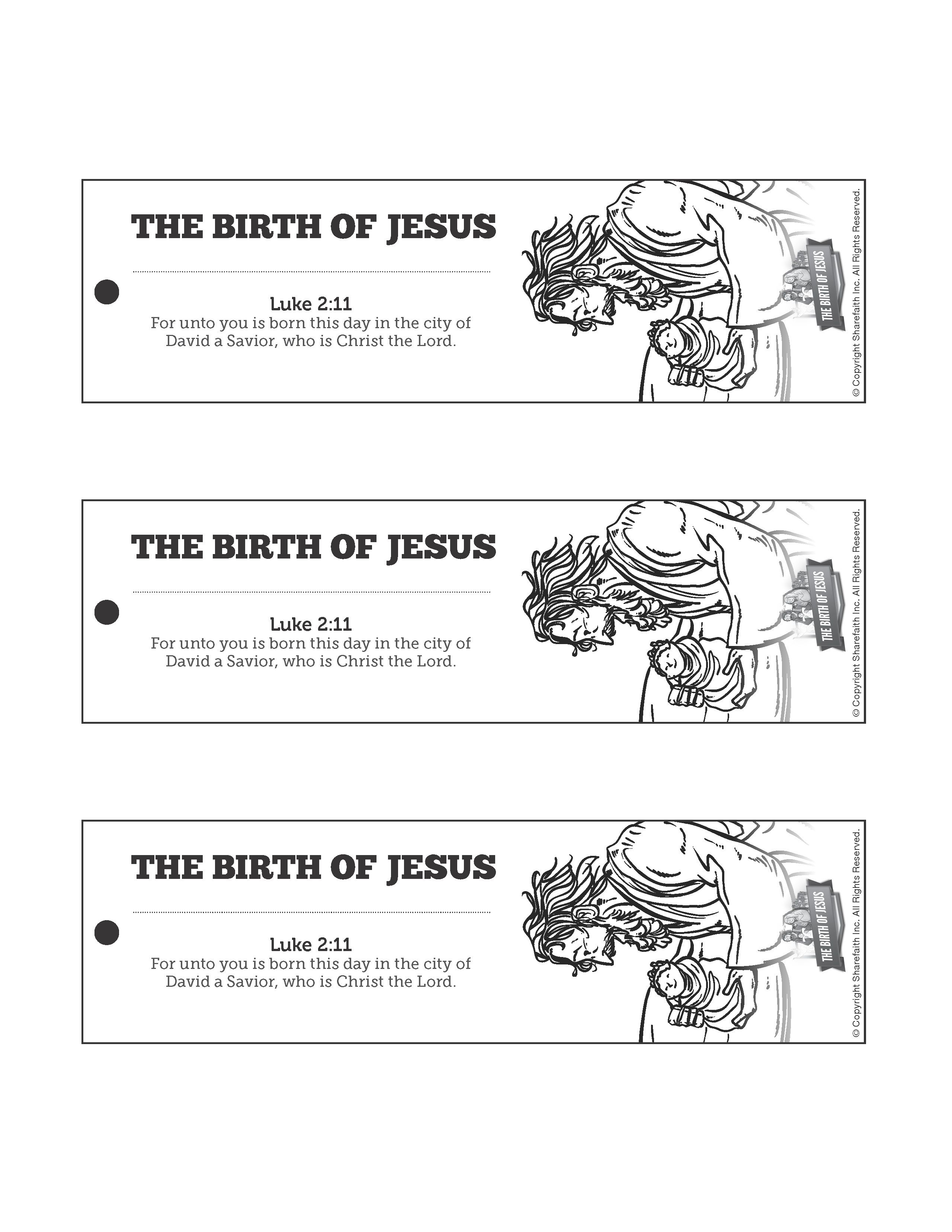 The Birth of Jesus Bible Bookmarks The timeless story of