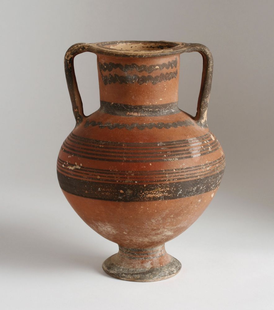 Large Ancient Black-on-Red Pottery Amphora / Cypriot ...