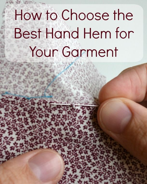 Find out how to choose the best hand hemming stitch for your project with this handy chart + mini tutorials for how to hem by hand 5 different ways.