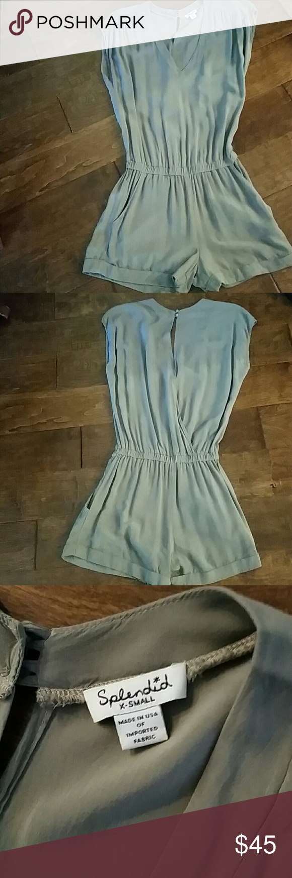 Splendid,  romper Very flattering, perfect for summer. Can be dressed up or down. Light army green color romper 100% rayon. splendid  Other