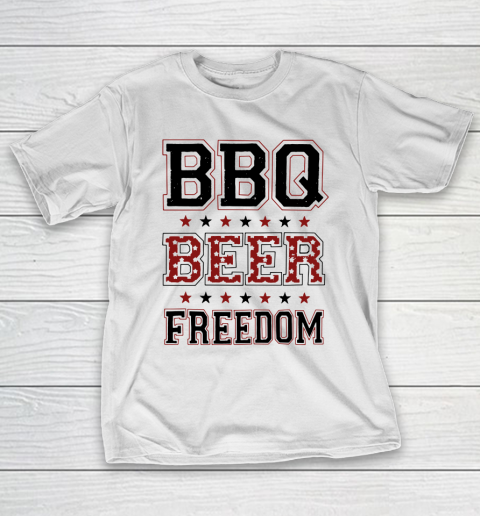 Bbq Beer Freedom Trump Fan T Shirt Itees Global Funny Beer Shirts Beer Shirts Bbq