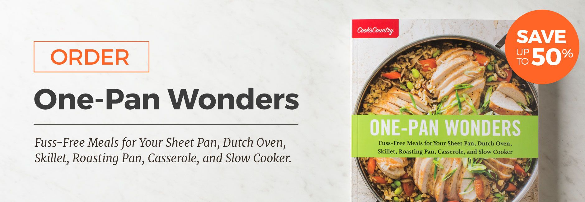 The One Pan Wonders Cookbook Order Form Roasting Pan