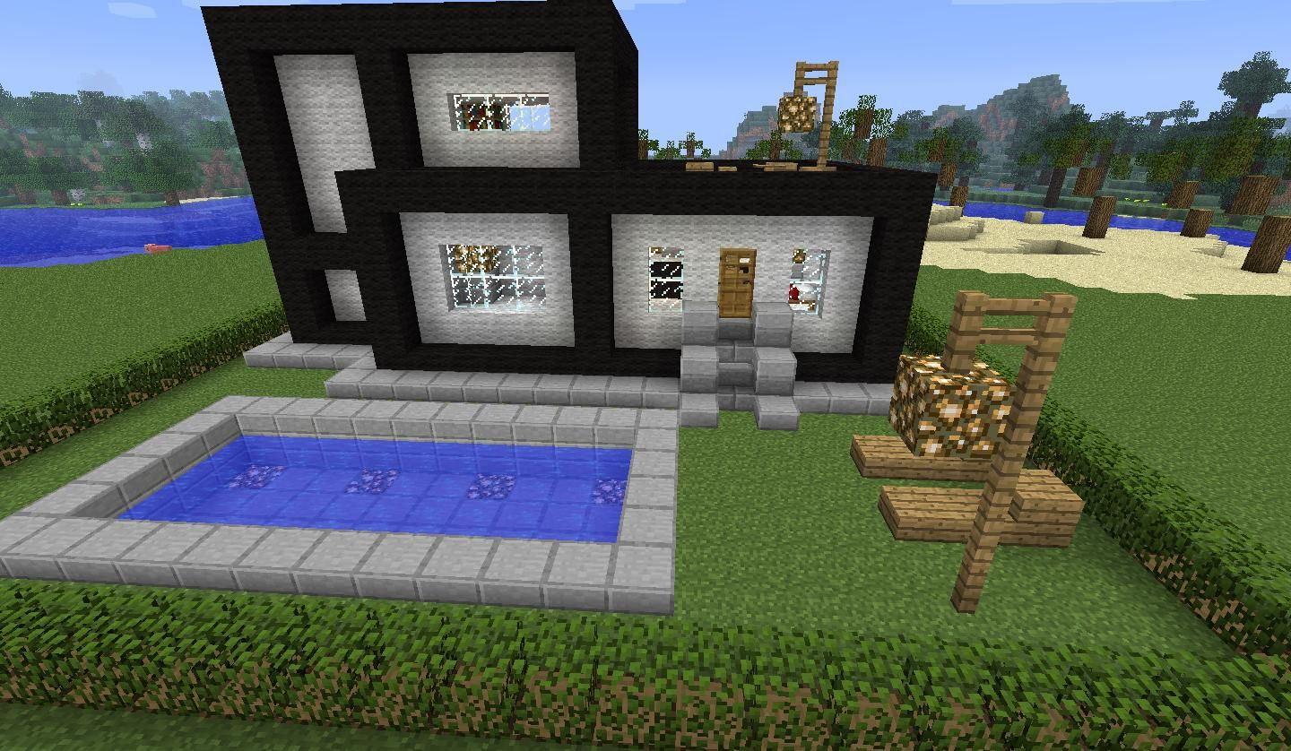 Map Modern House With Beach - Maps Mapping And Modding