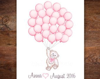 Elephant Baby Shower Guest Book Alternative By MelissaWynneDesigns