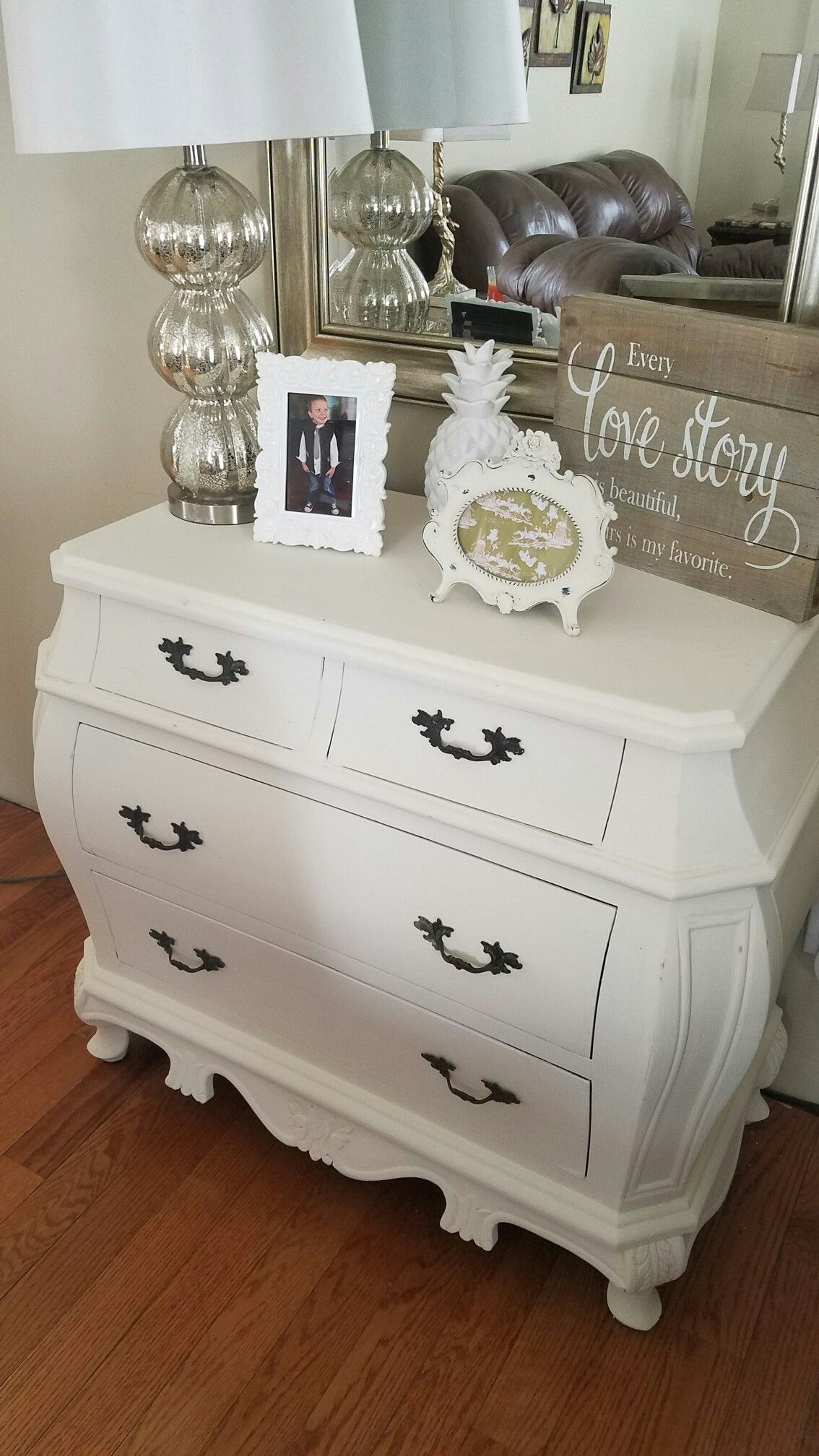 Bombay Chest Painted With Annie Sloan Old White Chalk