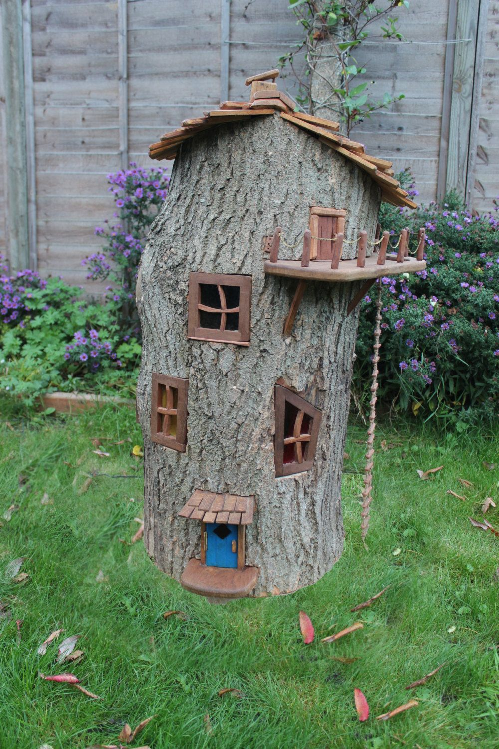 Gnome Tree Stump Home: Enchanted Wooden Fairy House By Olliewoodswood On Etsy