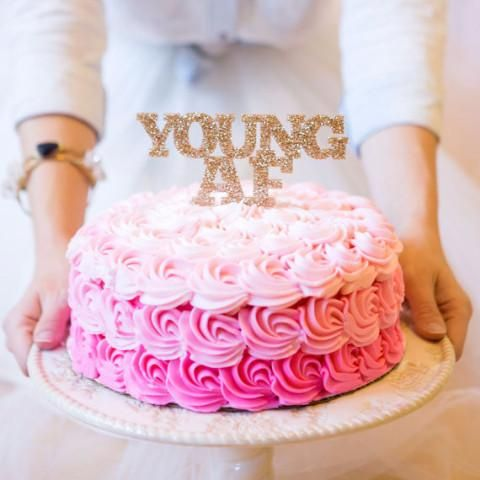 YoungAF Cake Topper