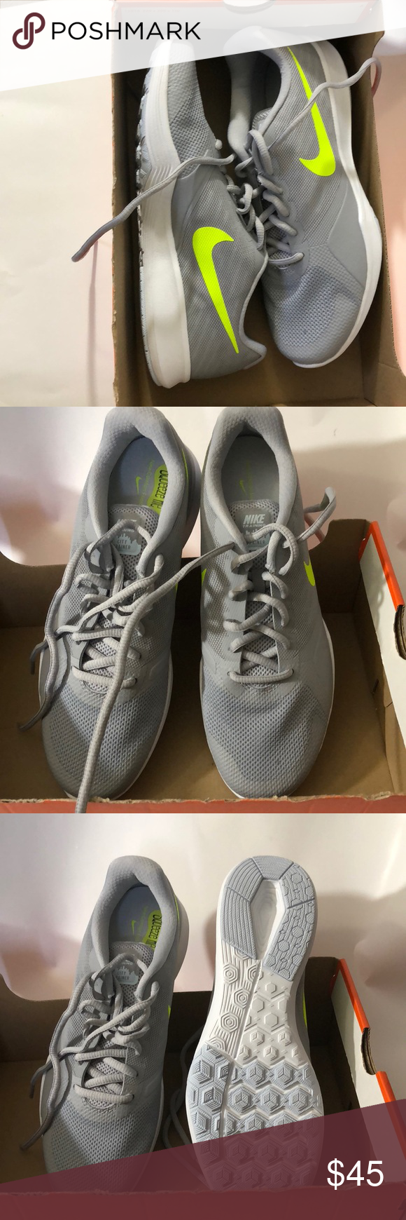 d77ef72019b1a4 Nike women s city trainer size 9 1 2 gray Women s gray Nike city trainers  size 9 1 2 swishy neon yellow Nike Shoes Sneakers