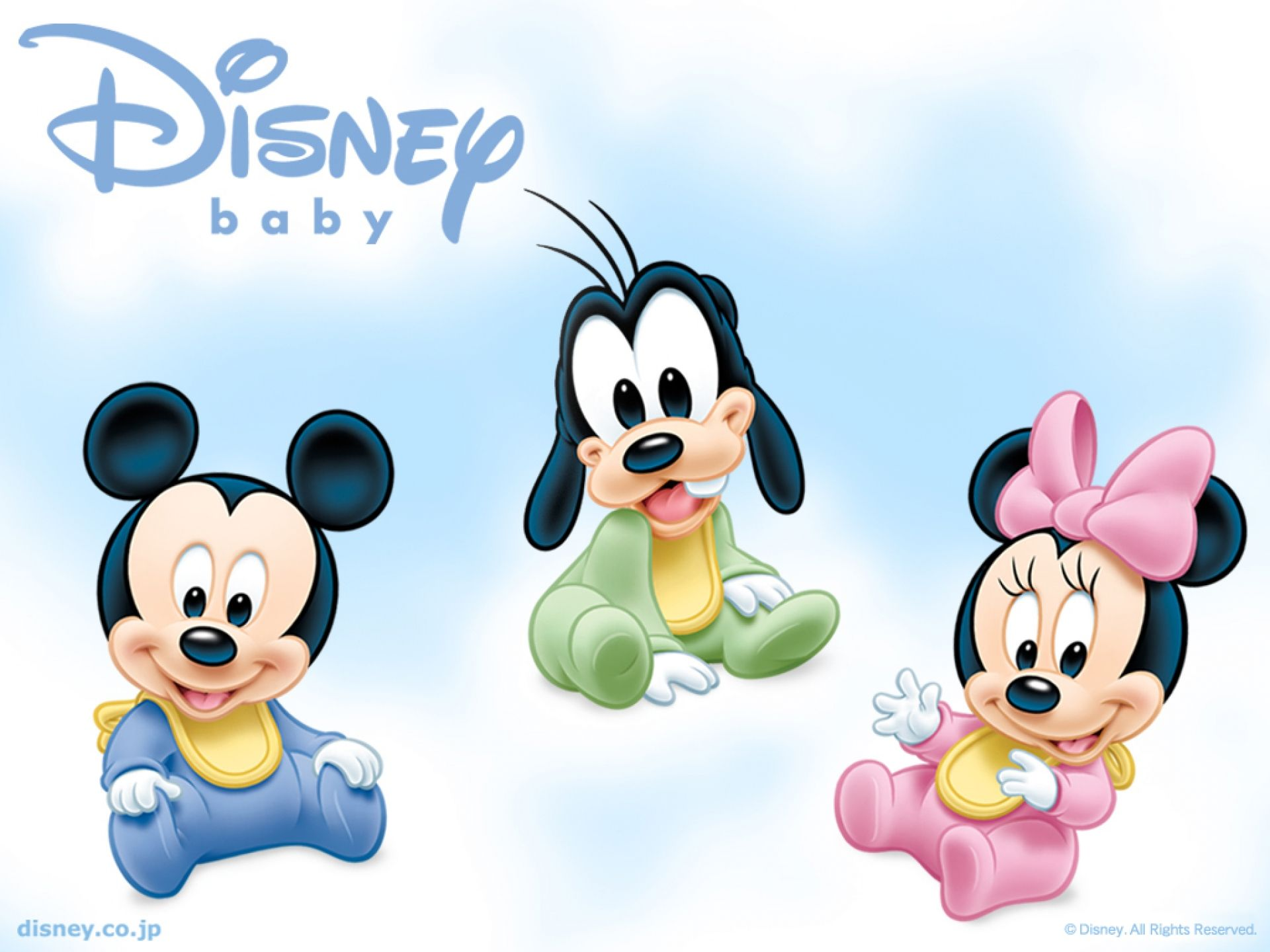 baby mickey mouse goofy and minnie mouse cartoon wallpaper