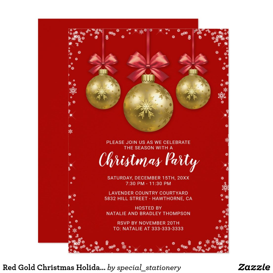 Business corporate christmas holiday party card party invitations business corporate christmas holiday party card monicamarmolfo Gallery