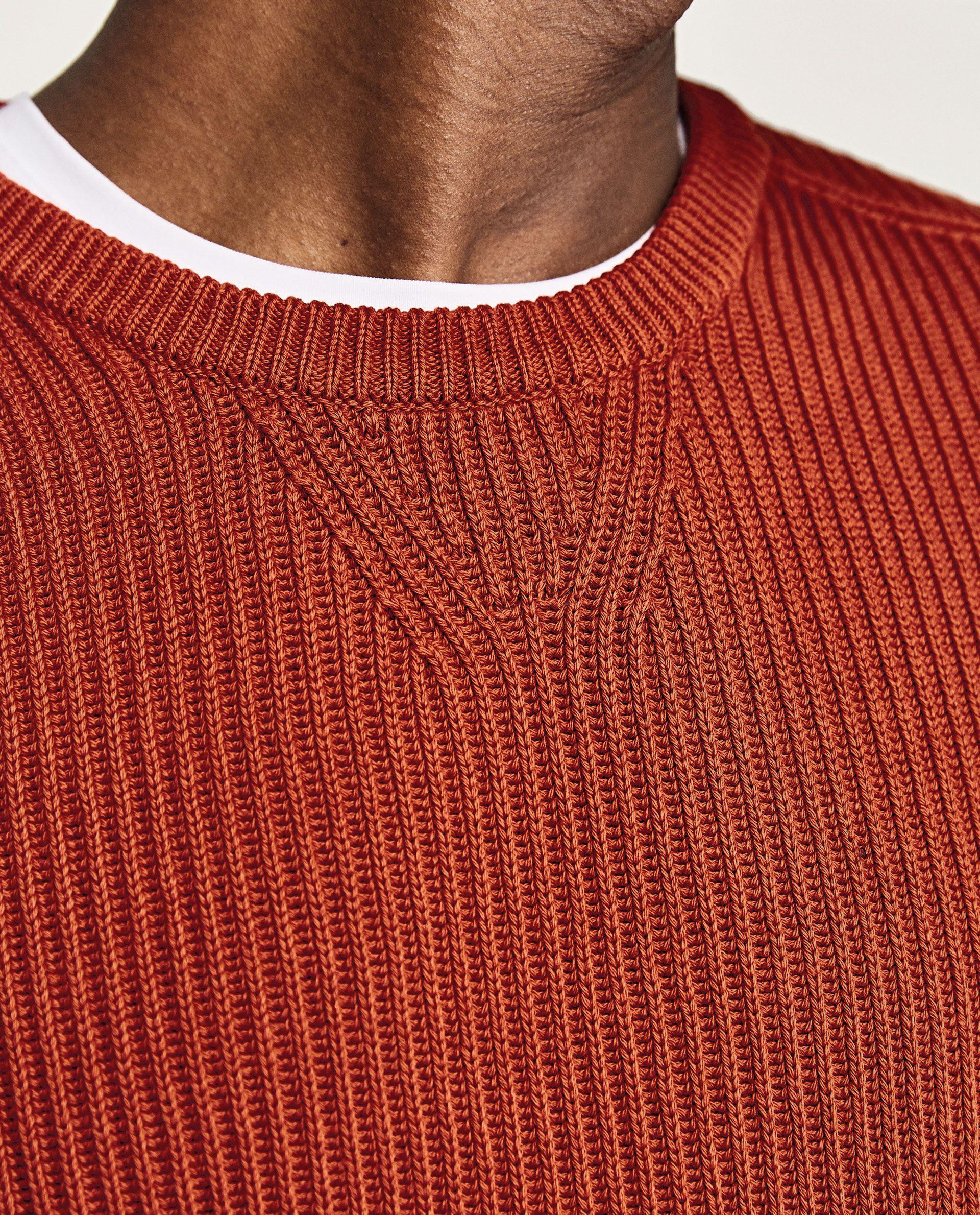 Pullover Mit Patentmuster Men Sweater Knitwear Men Knitwear Details [ 2379 x 1920 Pixel ]