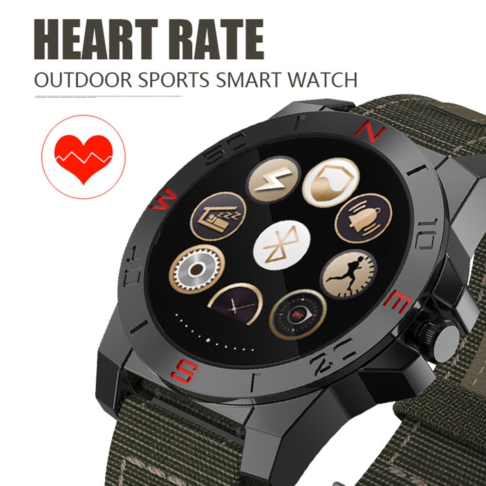 62.98$  Buy now - http://ali9w0.worldwells.pw/go.php?t=32669701037 - Men's Luxury Smart Watch Outdoor Sport Smartwatch With Heart Rate Monitor And Compass Waterproof Wach For ios And Android 62.98$