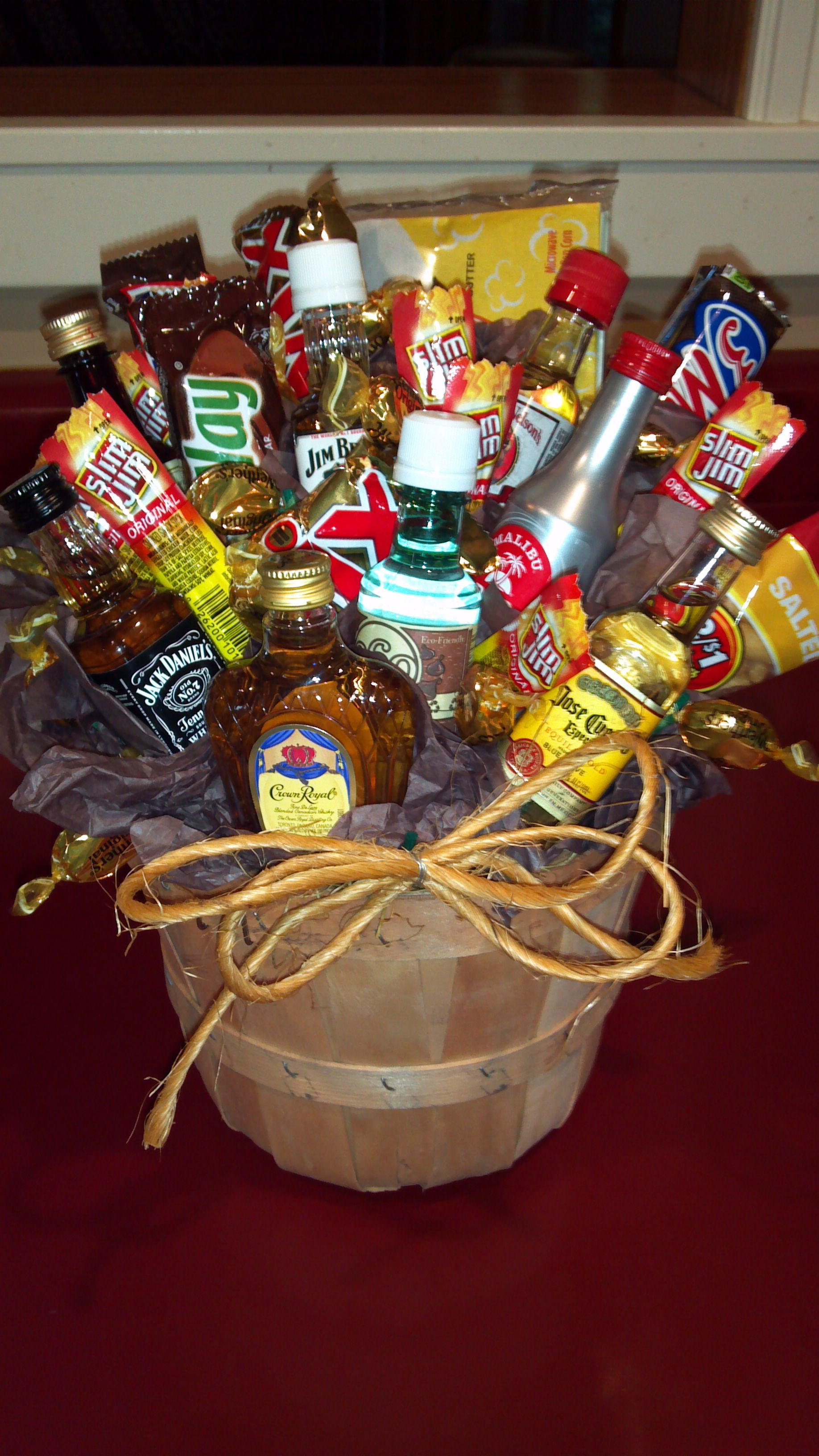 the ultimate man bouquet a little idea for joel when he gets home - Valentine Gift Basket Ideas For Him