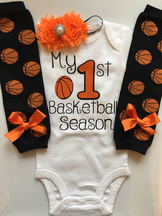 60e5be654407 Baby Girl Basketball Outfit My 1st Basketball by AboutASprout