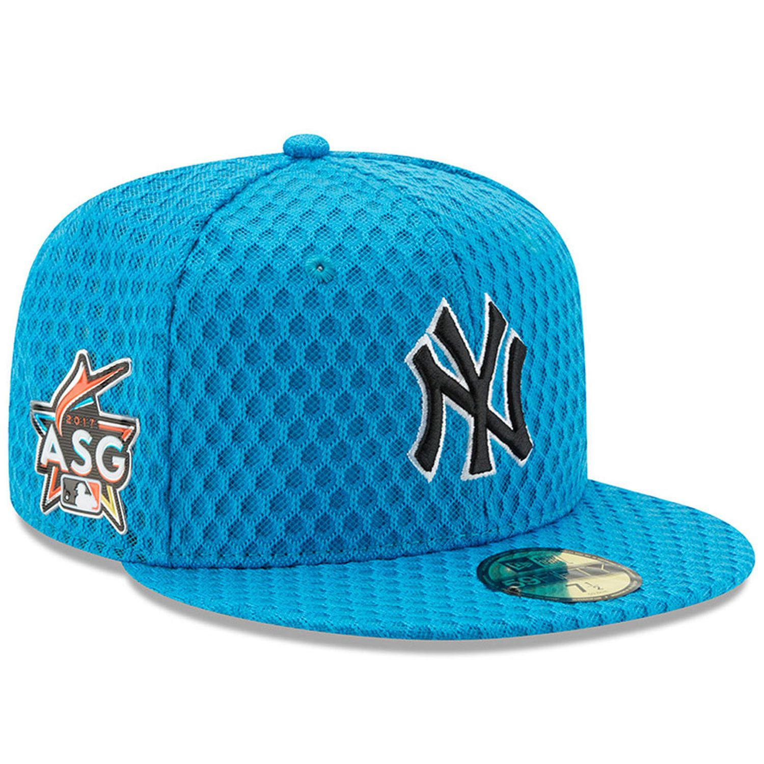 4c73f8690652e5 Men's New York Yankees New Era Blue 2017 Home Run Derby Side Patch 59FIFTY  Fitted Hat