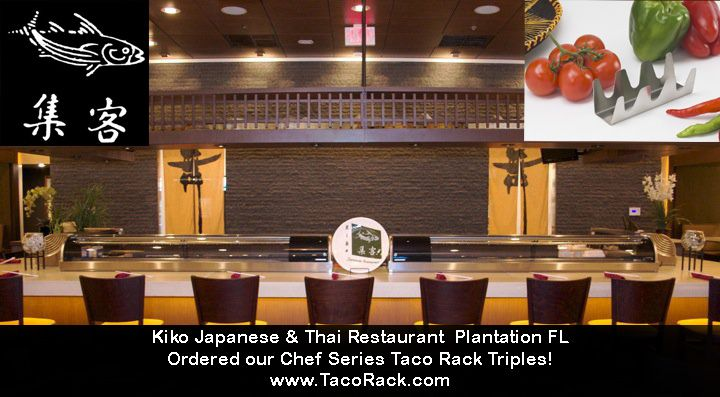 Kiko Anese Thai Restaurant In Plantation Fl Found Our Taco Rack Triple As
