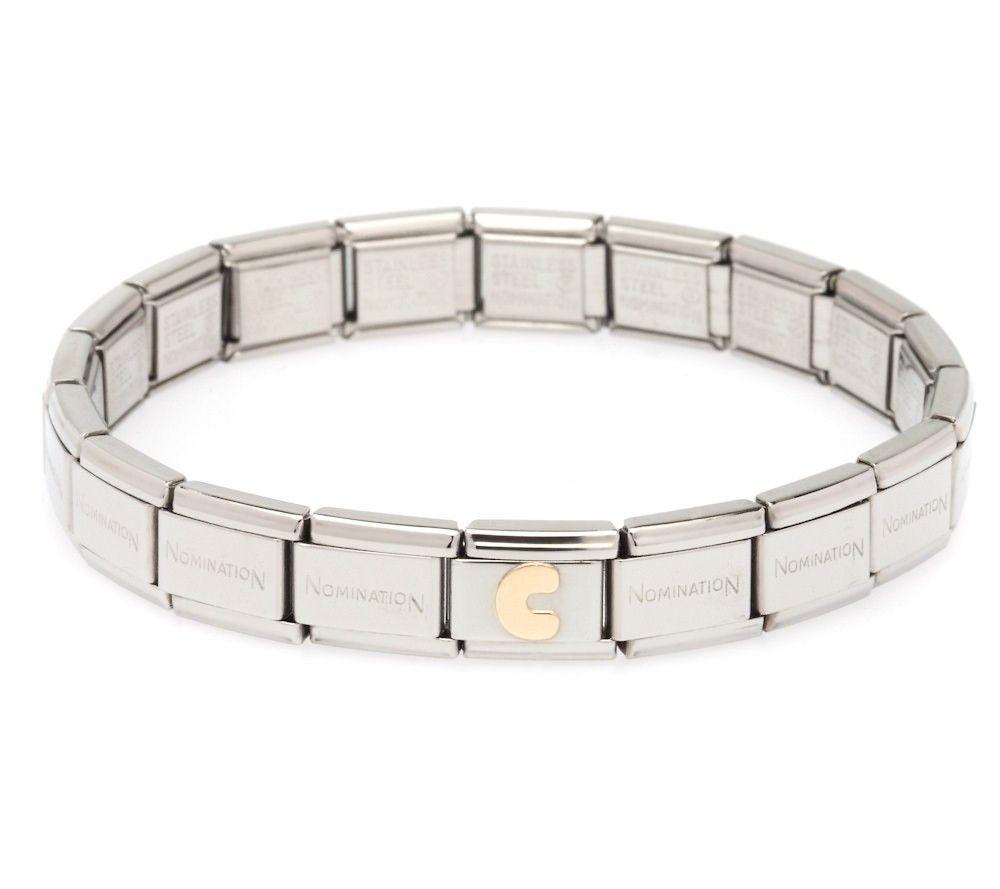 Nomination Steel 18ct Gold Plated Initial Starter Bracelet