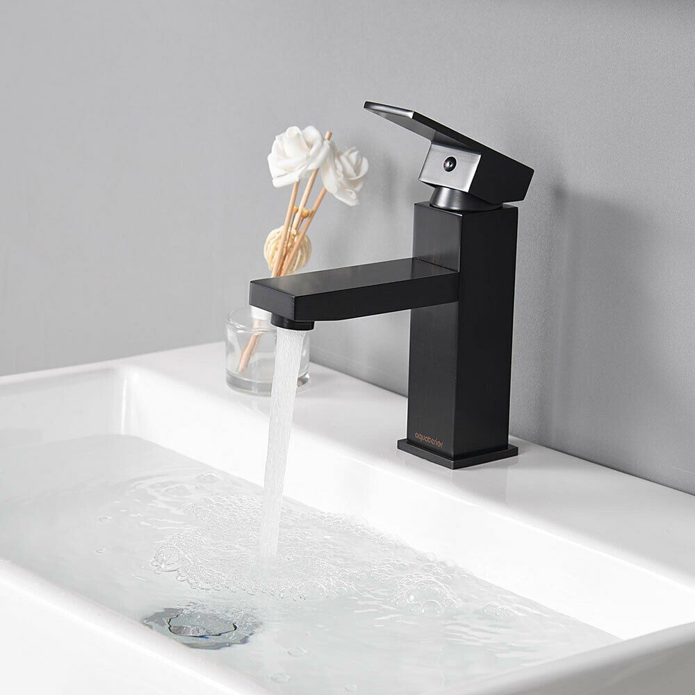 Simple Single Hole Bathroom Faucet Cold Hot Water For Under