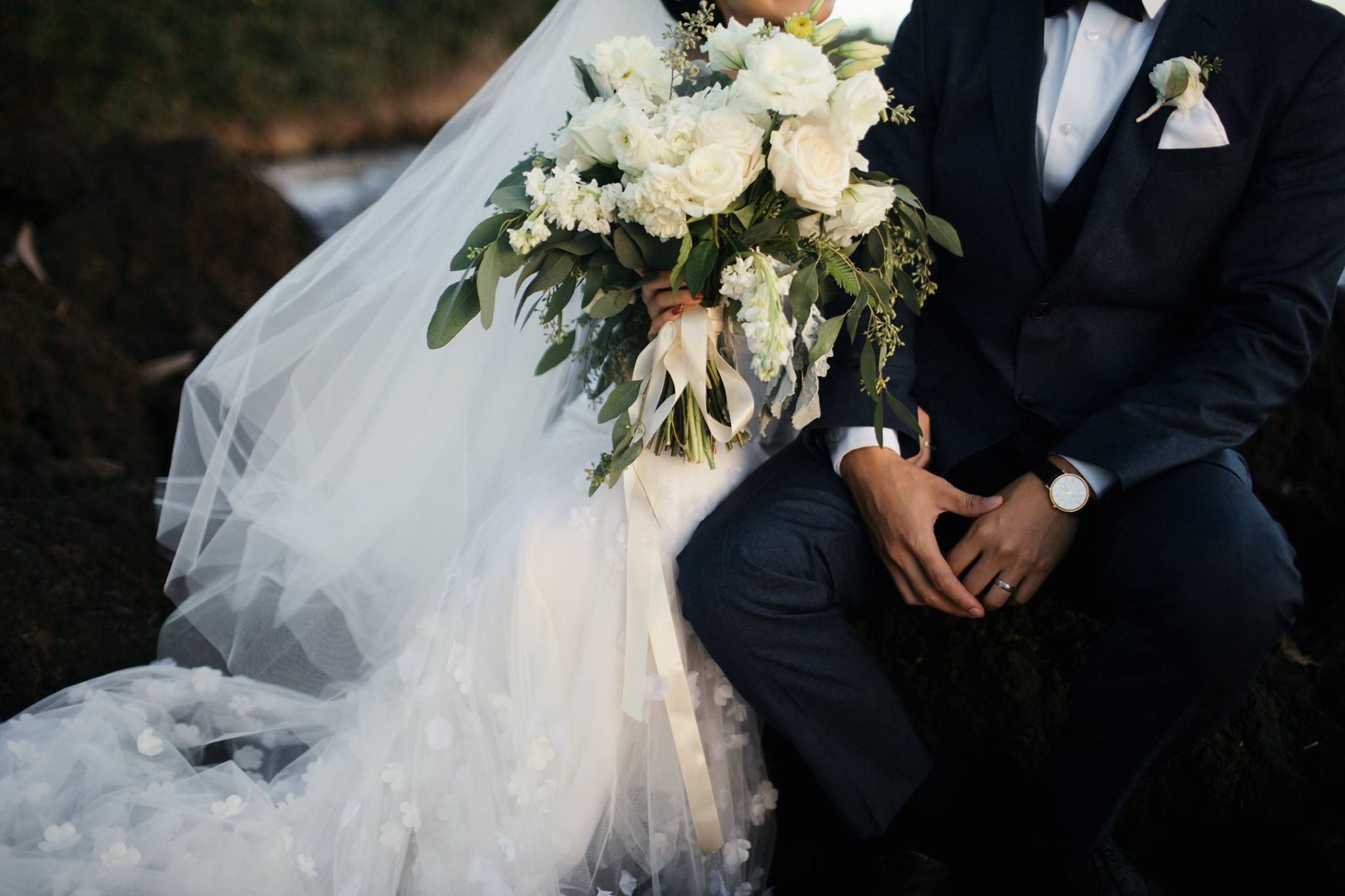 Ivory bridal bouquet by dellables unique lace wedding dress and