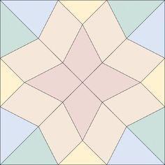 Diamond Star Quilt Block | Star quilt blocks, Star quilts and Free ... : free quilt block patterns to print - Adamdwight.com