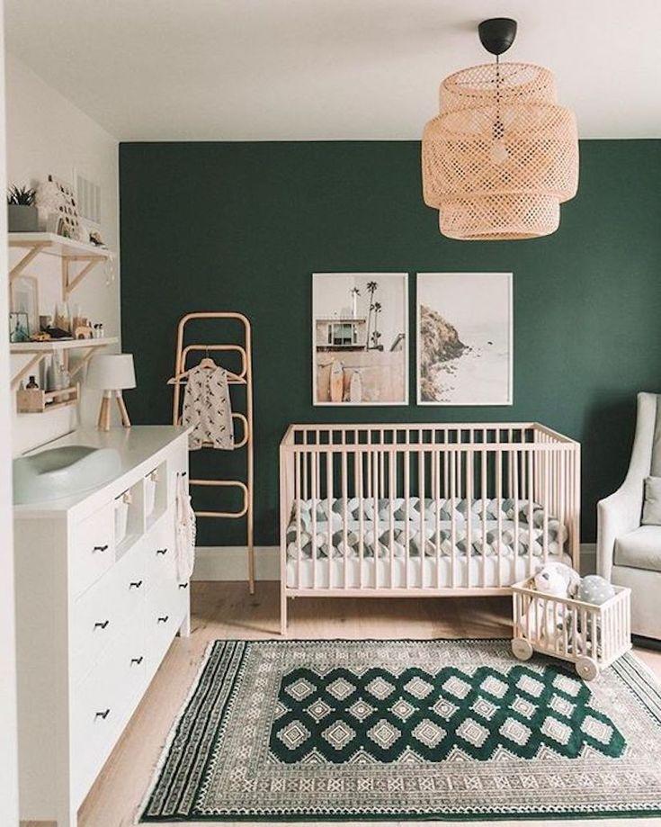 Dark Green Gender Neutral Nursery Inspiration