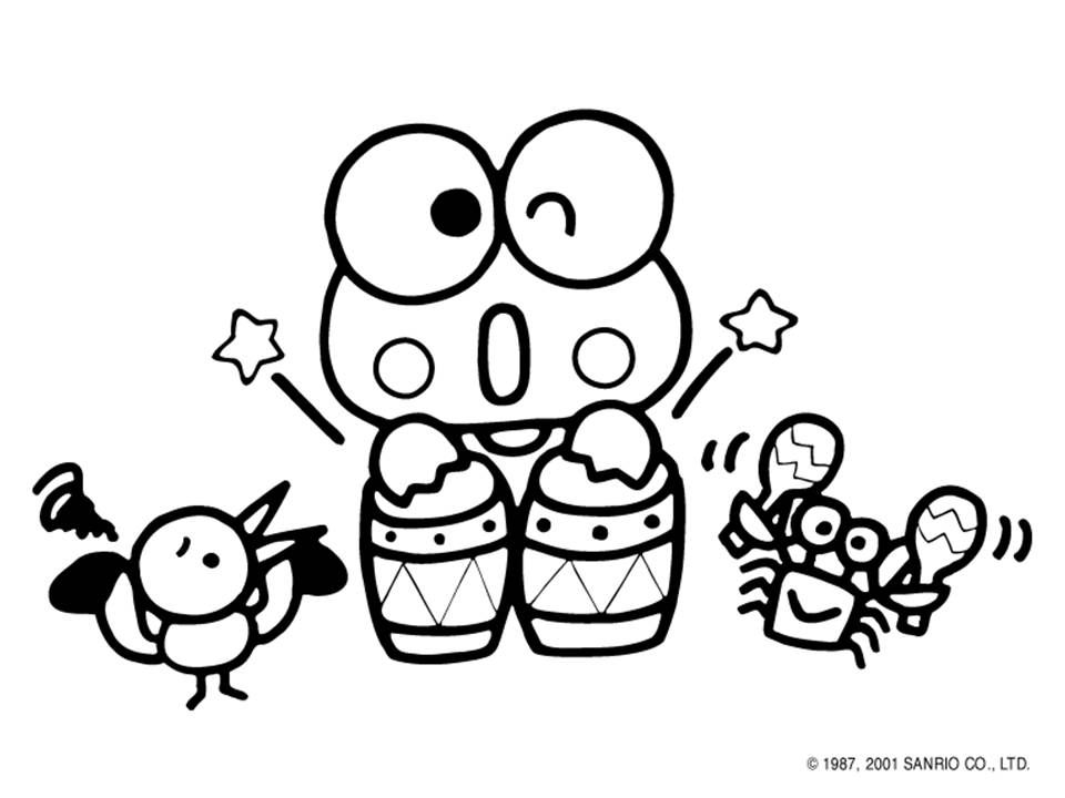 Sanrio Hello Kitty Pinterest Sanrio, Hello kitty coloring and - fresh keroppi coloring pages free to print