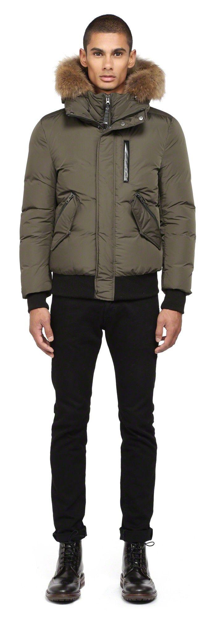 Mackage Harvey F4 Army Down Bomber Jacket For Men With Fur Hood Www Mackage Com Menswear Fw14 Winte Designer Leather Jackets Jackets Winter Jackets Women [ 2000 x 683 Pixel ]