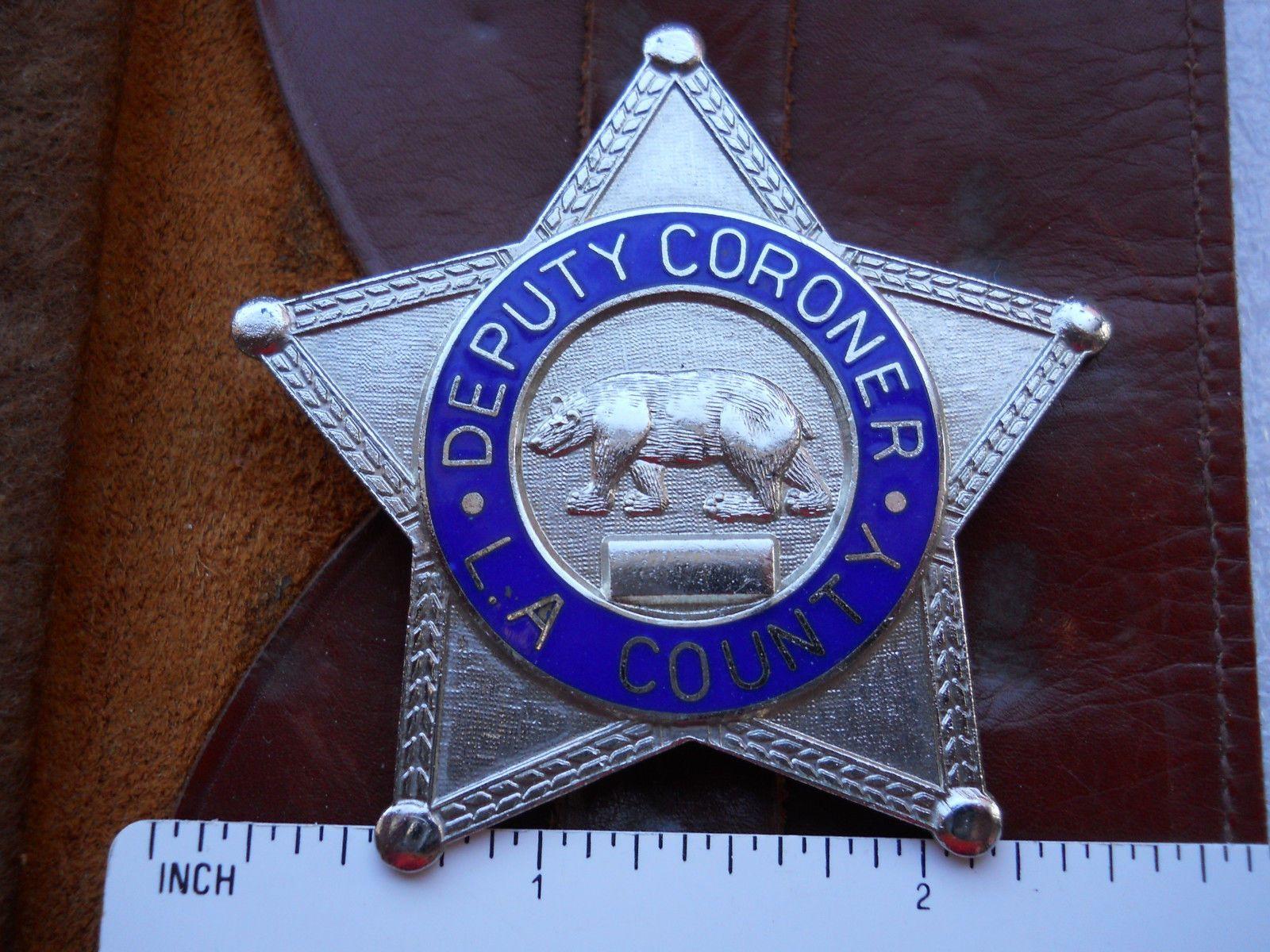 Deputy coroner los angeles county california police