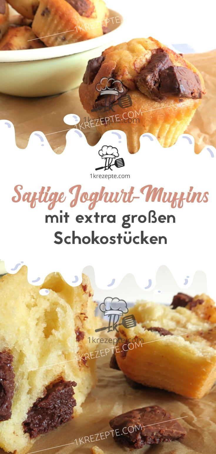 Saftige Joghurt Muffins Mit Extra Grossen Schokostucken Easy Holiday Recipes Food Vegan Holiday Recipes