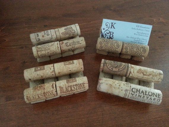 Wine cork business card holder recycled corks by kbkreationsshop wine cork business card holder recycled corks by kbkreationsshop colourmoves