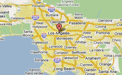 La County Zip Code Map Los Angeles California Los Angeles