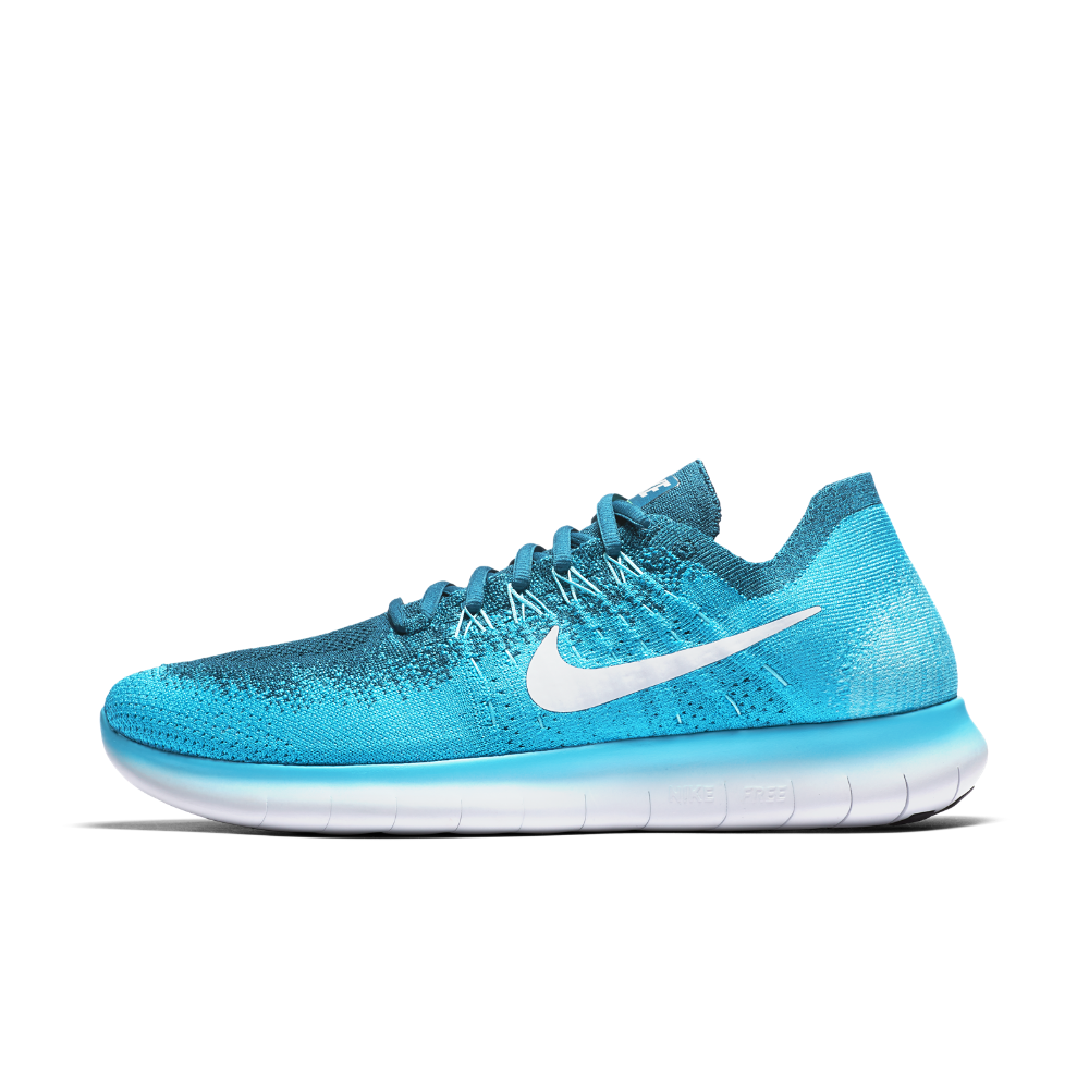 Nike 4.0 Flyknit Womens 717076 400 Blue Lagoon Running Shoes