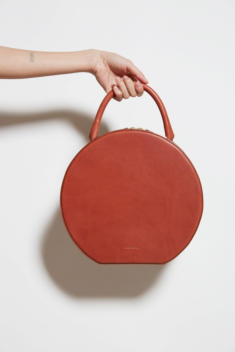 Always Into A Mansur Gavriel Leather Circle Bag