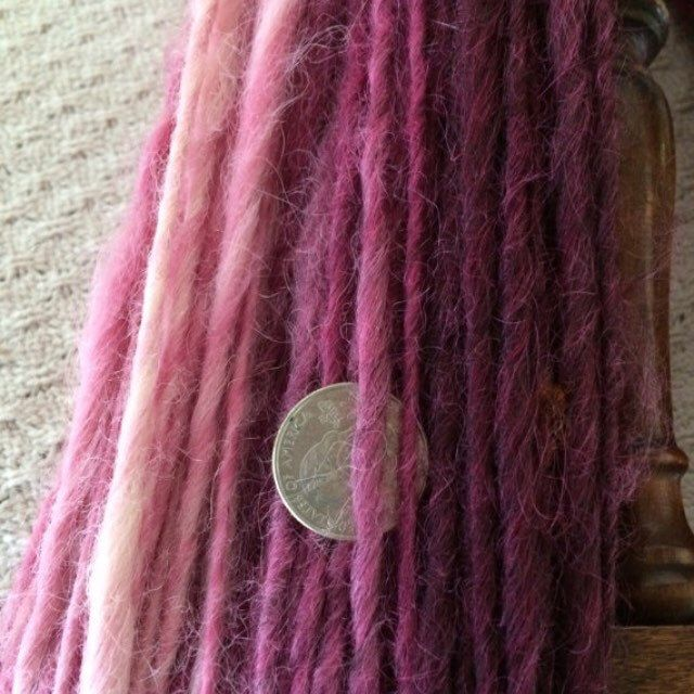 Sale of the day!! Half off, today only. Chunky ombre striped local wool/mohair yarn.