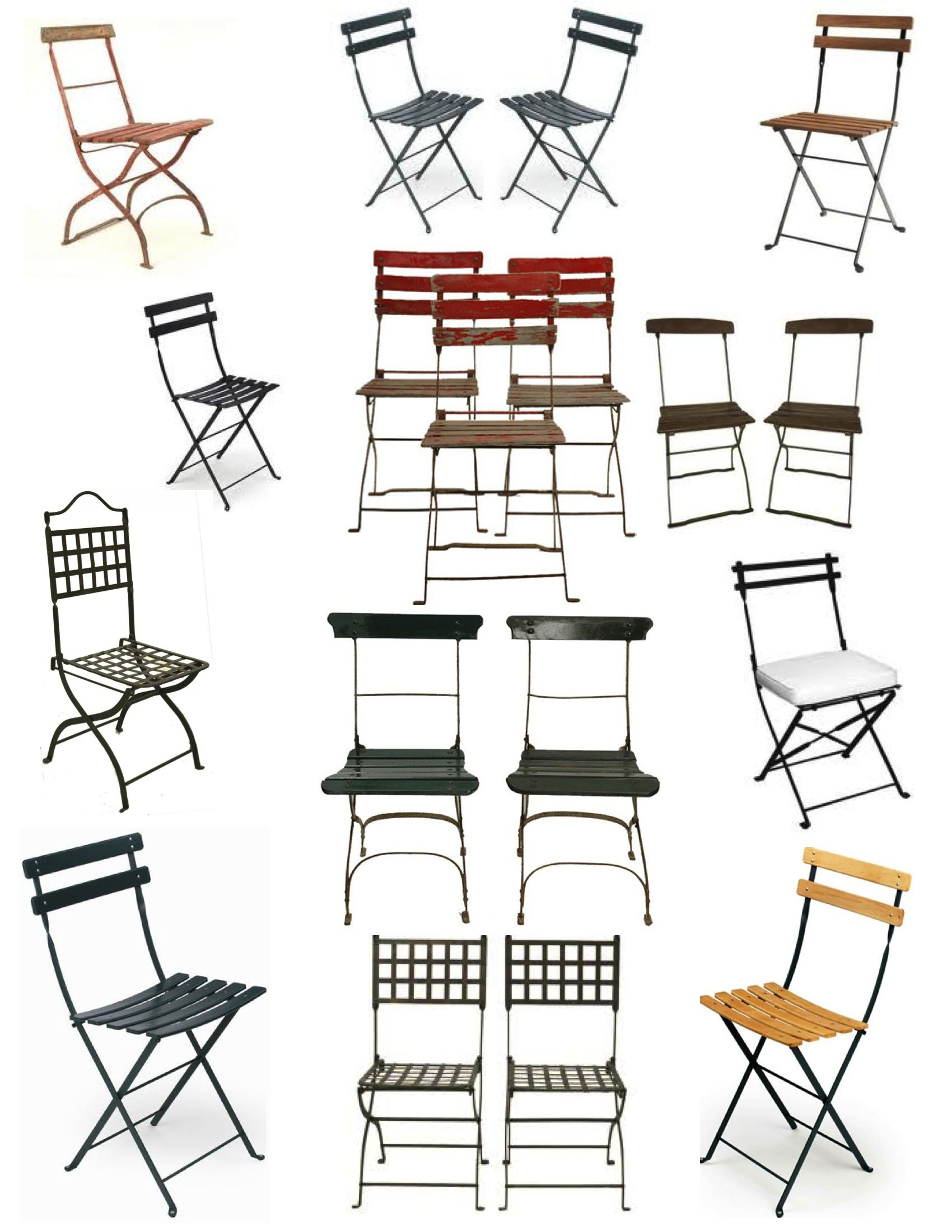 French Cafe Garden Folding Chairs