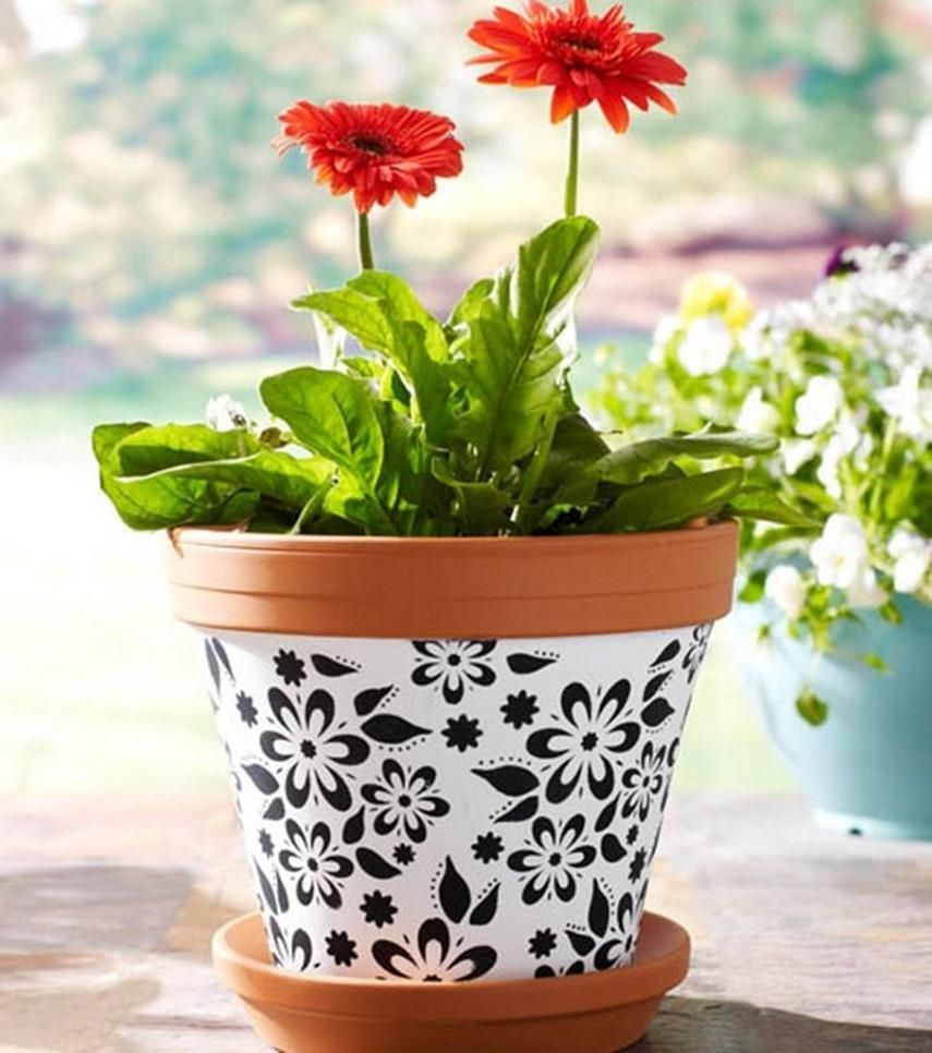 25 simple easy flower pot painting ideas painted plant