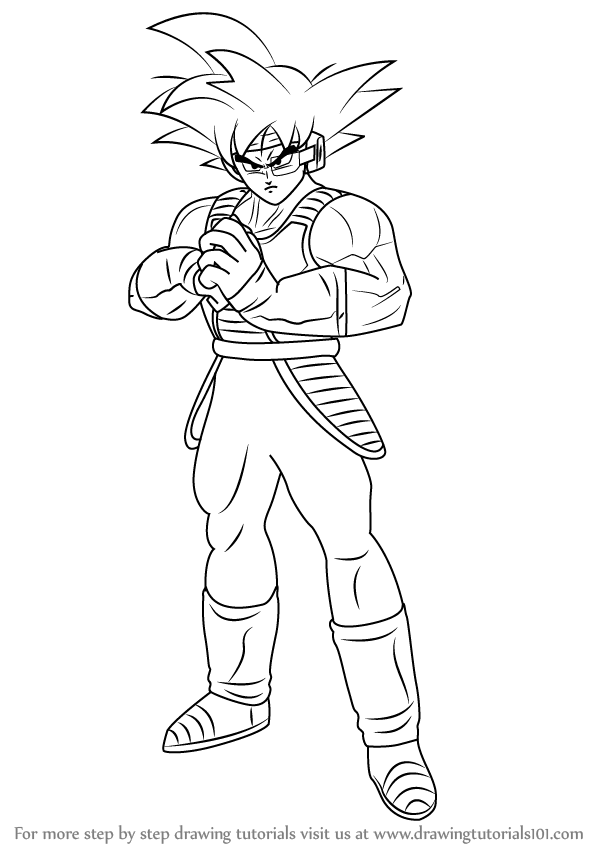 How To Draw Bardock Full Body From Dragon Ball Z Drawingtutorials101 Com Drawings Dragon Ball Dragon Ball Z