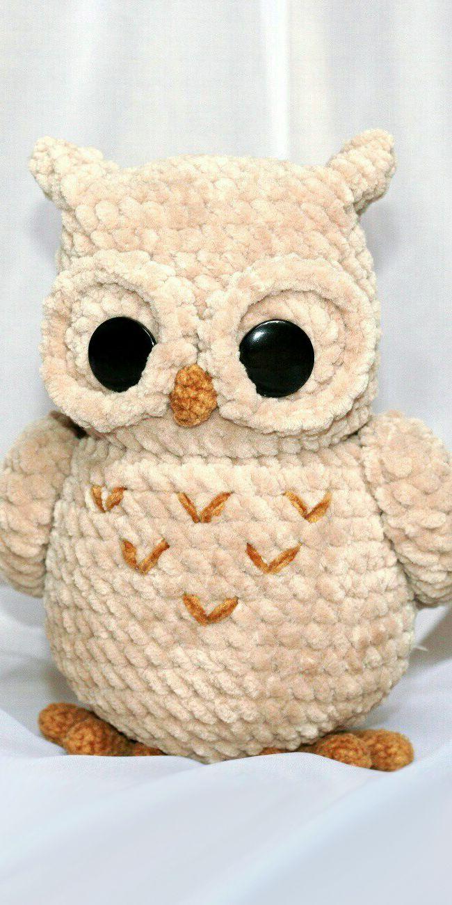 PDF Совёнок крючком. FREE crochet pattern owl; Аmigurumi doll patterns. Амигуруми схемы на русском. #вязаныеигрушки